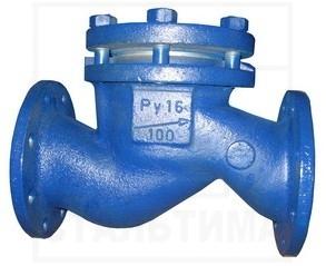 Клапан обратный <br>ДУ25-150, Ру16 <br>16с10п(нж) <br>стальной, фланцевый